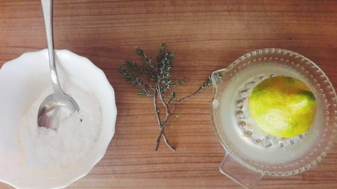 diy salt and thyme body scrub