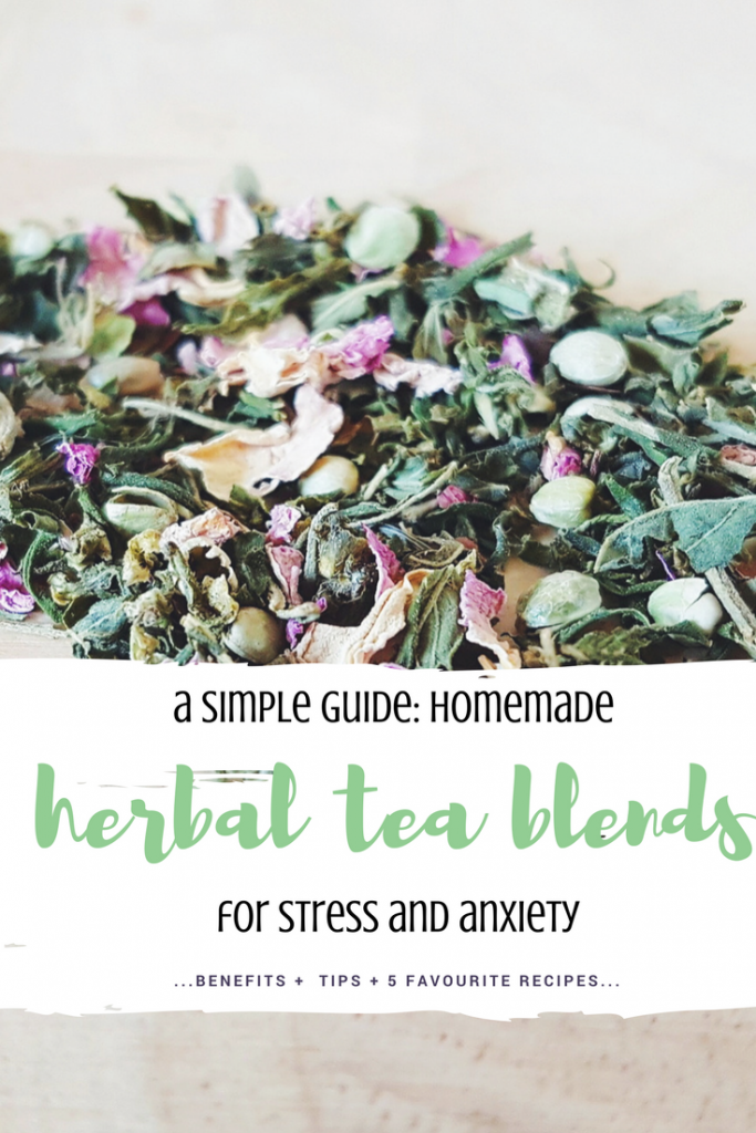 a simple guide on homemade herbal tea blends for stress and anxiety