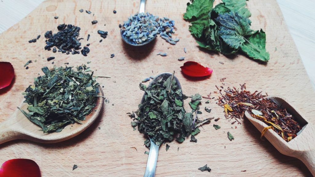 homemade dried herbal tea