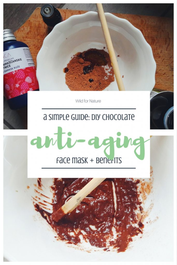 a simple diy vegan chocolate anti-aging face mask