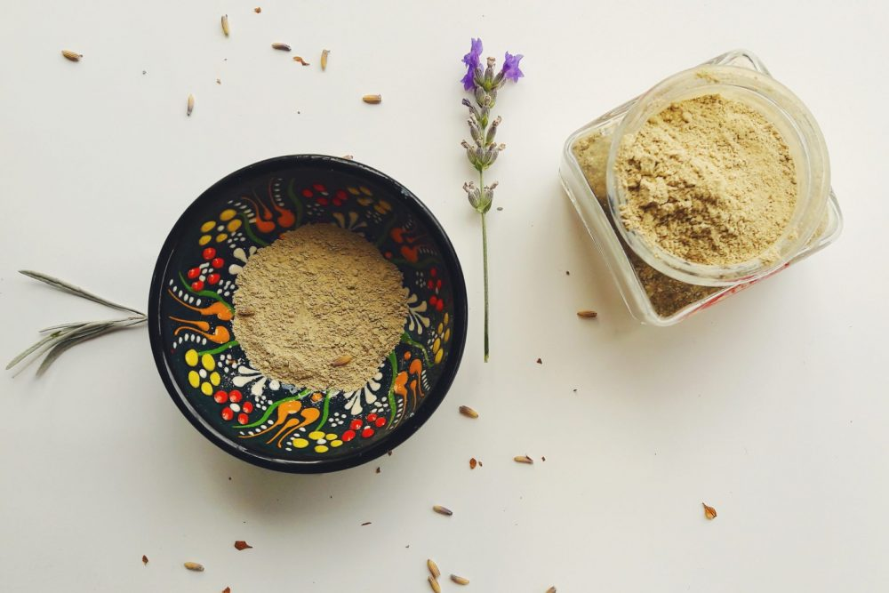 DIY bentonite clay face mask for acne