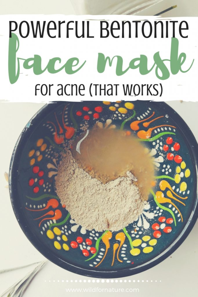 homemade bentonite clay face mask for acne