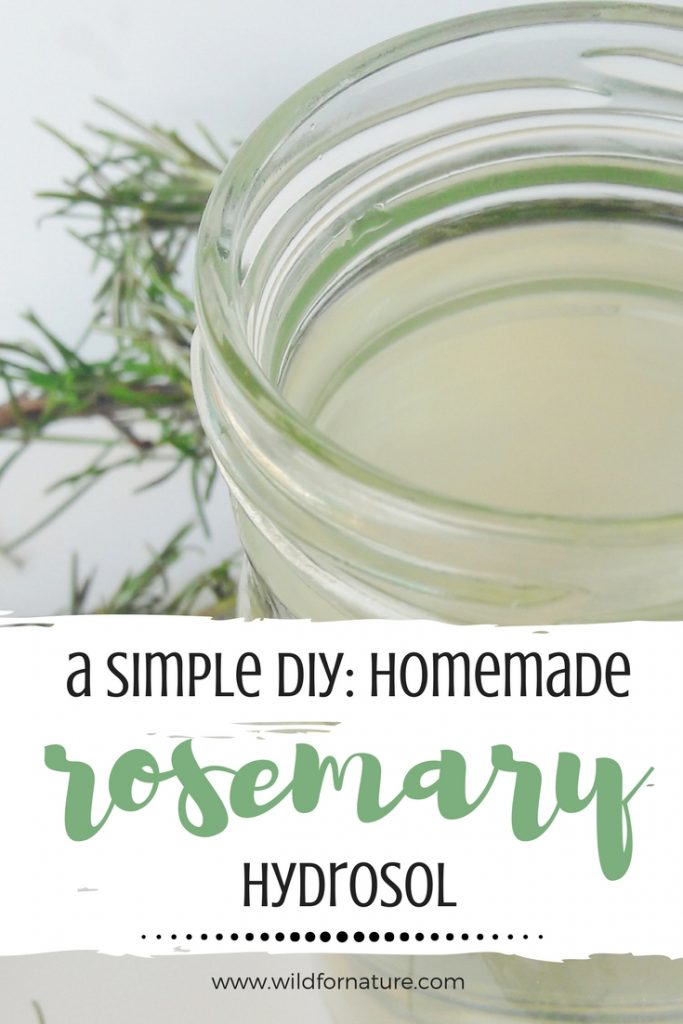 homemade rosemary hydrosol