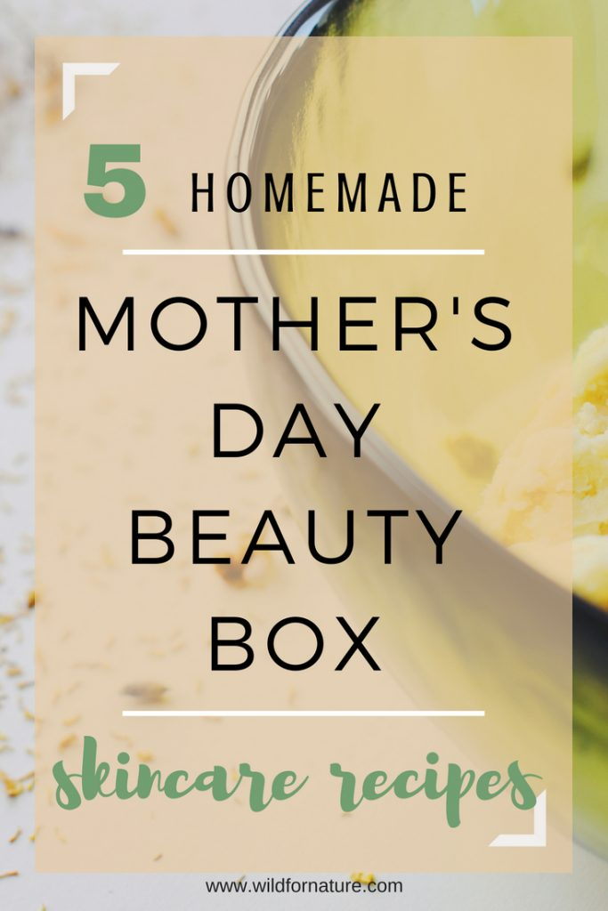 mothers day DIY beauty box