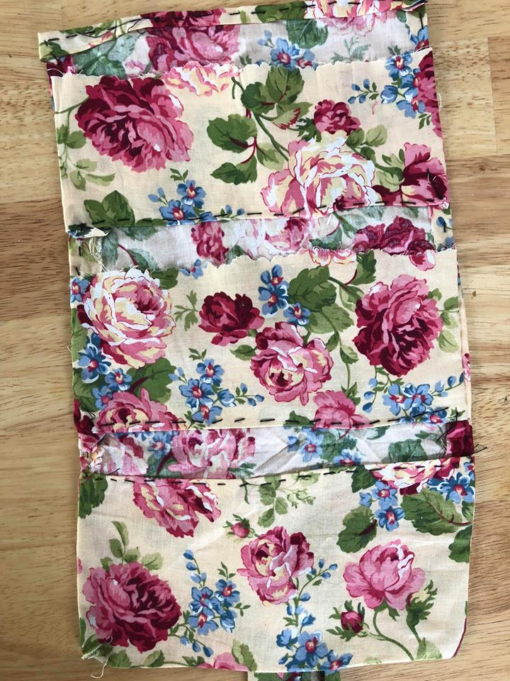 DIY Makeup Bag with Recycled Scrap Fabric