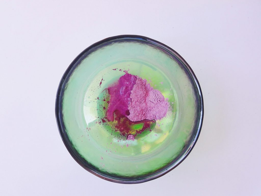 purple clay face mask