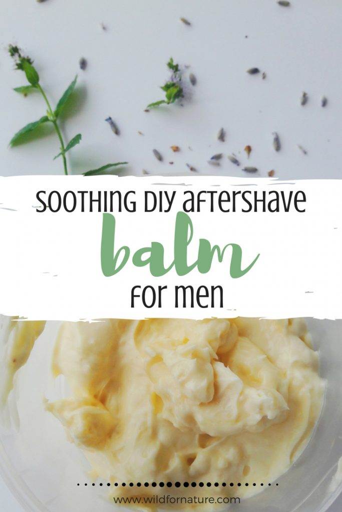 Soothing DIY Aftershave Balm for Men