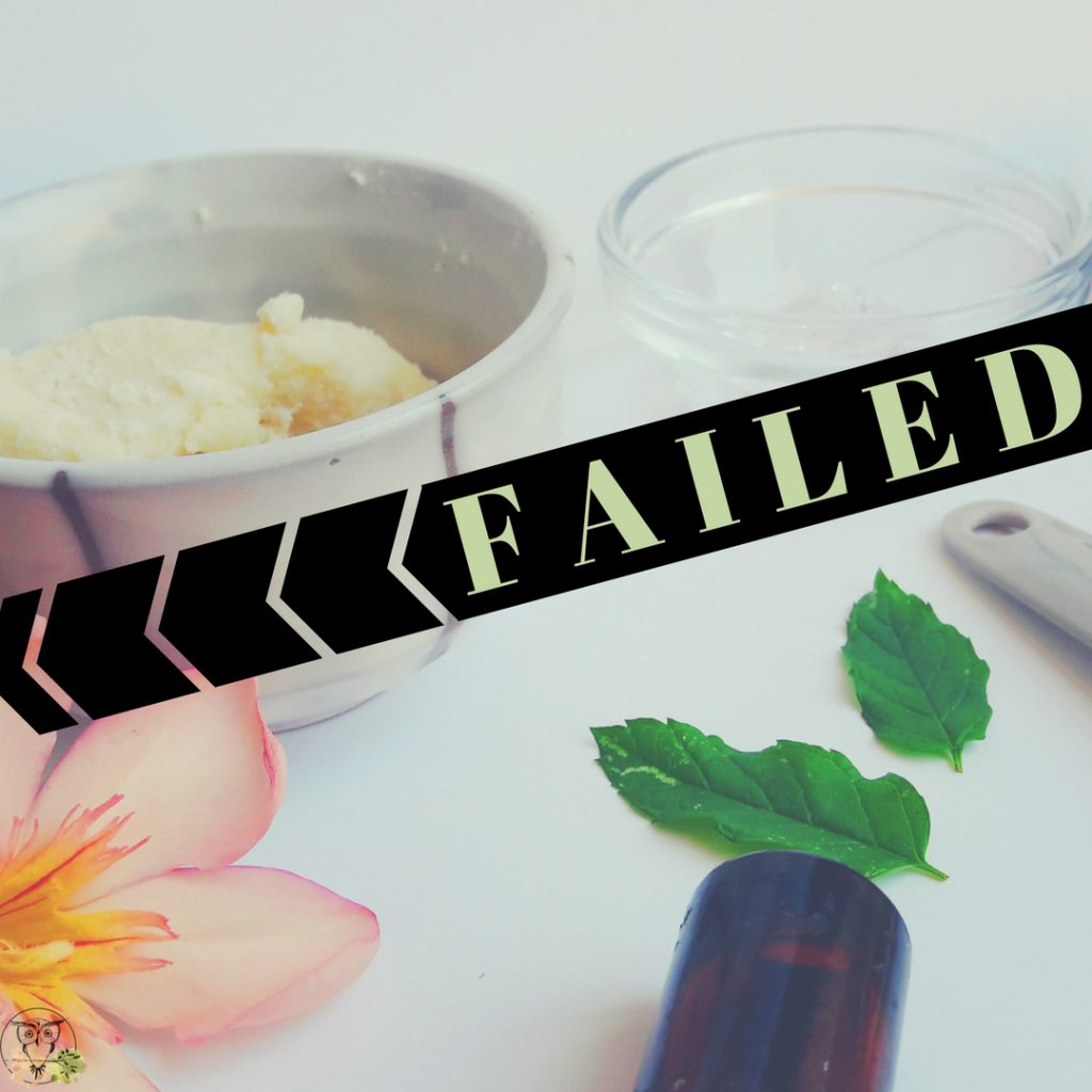 failed homemade skincare recipes