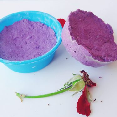 homemade rose clay cleansing bar
