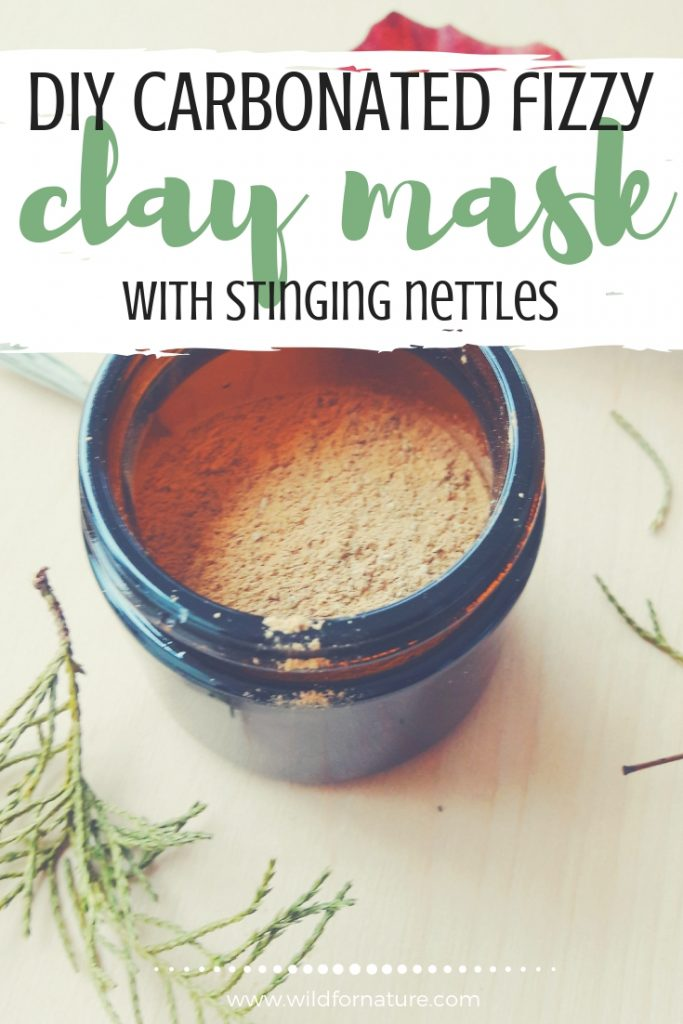 DIY carbonated clay mask